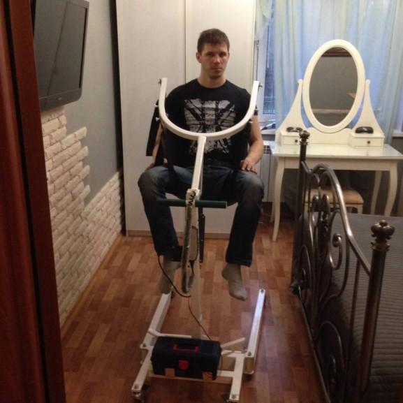 Передвижной подъёмник для колясочников и больных O-Savva TPS-2 - фото №11