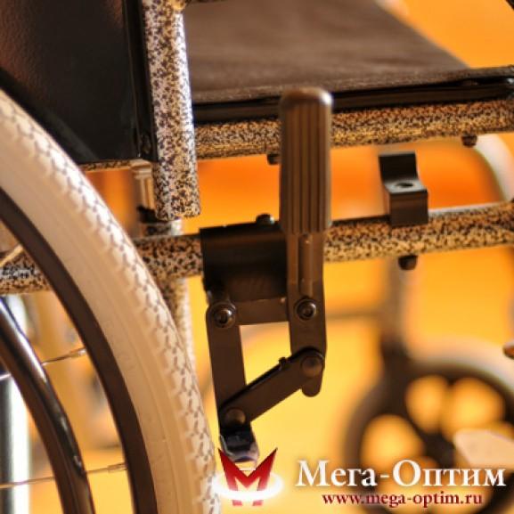 Инвалидная коляска стальная Мега-Оптим Fs 874 B-51 - фото №2