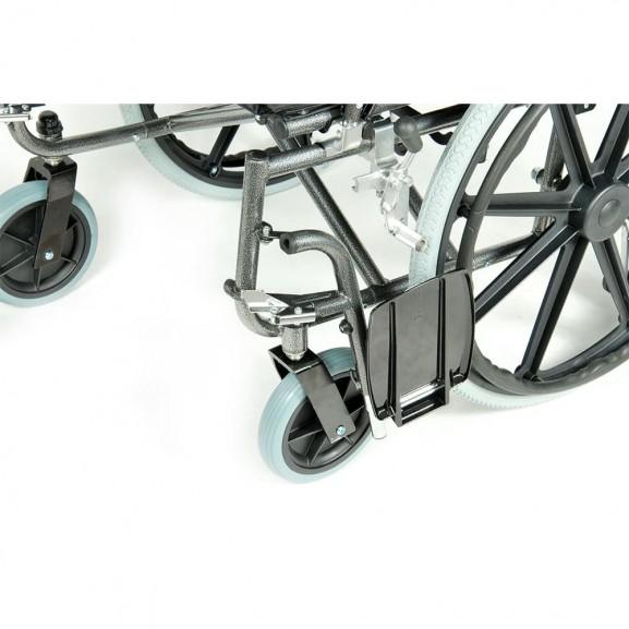 Комфортабельная инвалидная кресло-коляска Мега-Оптим Fs 951 B-56 - фото №14