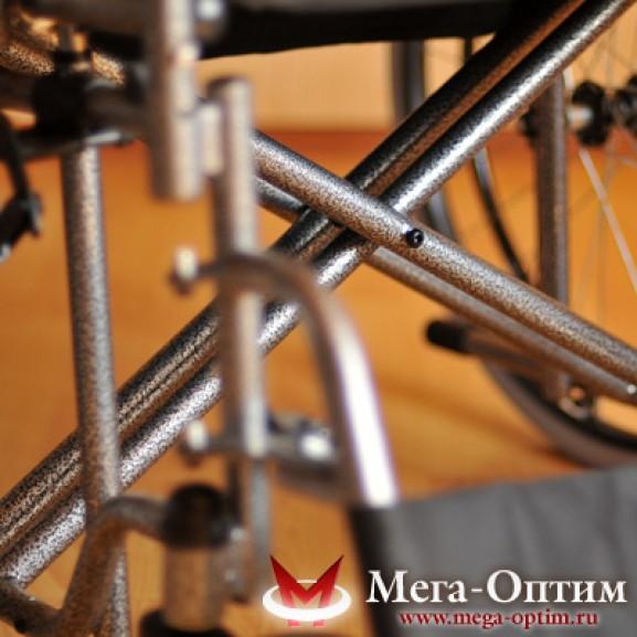 Инвалидная коляска стальная Мега-Оптим Fs 874 B-51 - фото №7