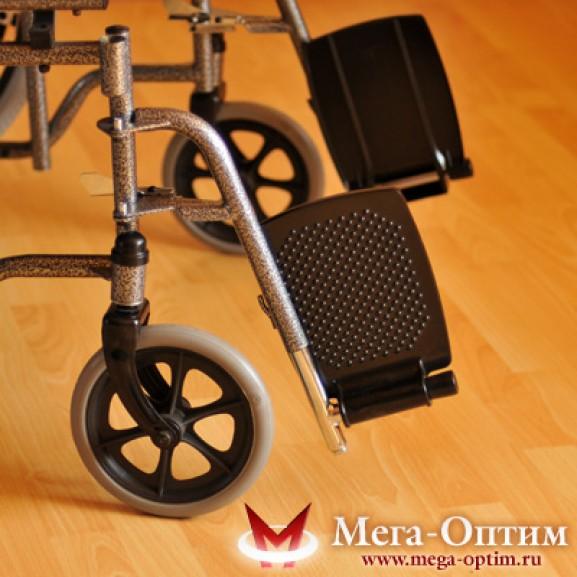 Инвалидная коляска стальная Мега-Оптим Fs 874 B-51 - фото №9