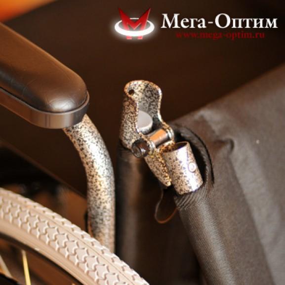 Инвалидная коляска стальная Мега-Оптим Fs 874 B-51 - фото №12