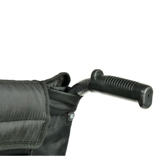 Комфортабельная инвалидная кресло-коляска Мега-Оптим Fs 951 B-56 - фото №12
