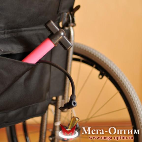 Инвалидная коляска стальная Мега-Оптим Fs 874 B-51 - фото №6