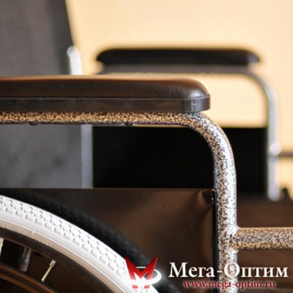 Инвалидная коляска стальная Мега-Оптим Fs 874 B-51 - фото №4