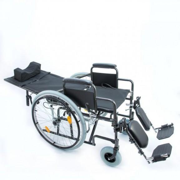 Кресло-коляска инвалидная механическая с высокой спинкой Мега-Оптим 514 А - фото №6
