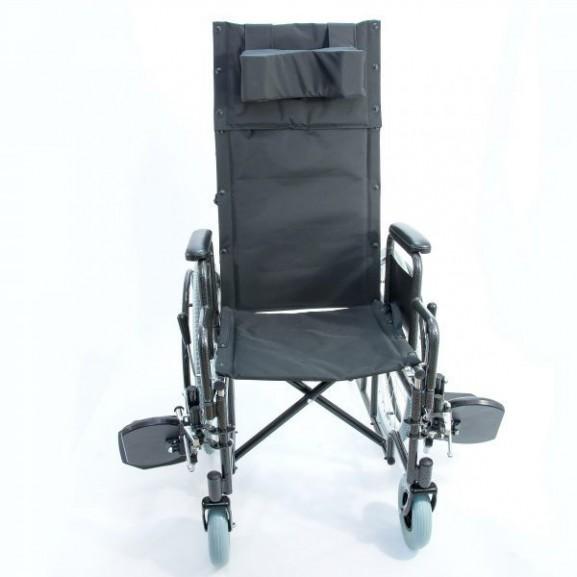 Кресло-коляска инвалидная механическая с высокой спинкой Мега-Оптим 514 А - фото №5