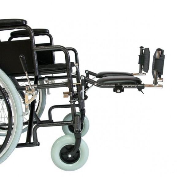 Кресло-коляска инвалидная механическая с высокой спинкой Мега-Оптим 514 А - фото №4