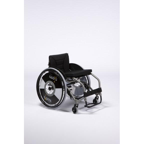 Кресло-коляска активная (спортивная) механическая с приводом от обода колеса Vermeiren Sagitta - фото №7
