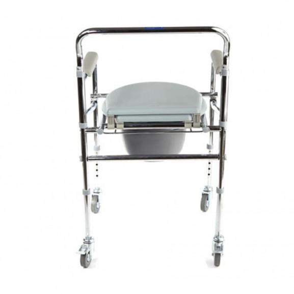 Кресло-туалет складной оснащенный четырьмя колесами Симс-2 Wc Mobail - фото №1