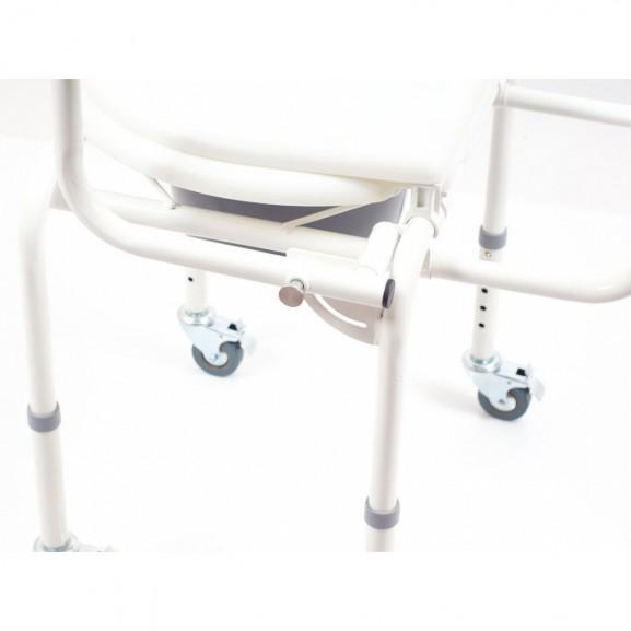 Санитарный стул со складными подлокотниками и колесами Ortonica Tu 8 - фото №2