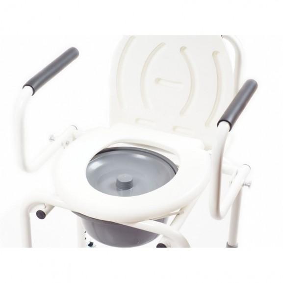 Санитарный стул со складными подлокотниками и колесами Ortonica Tu 8 - фото №7