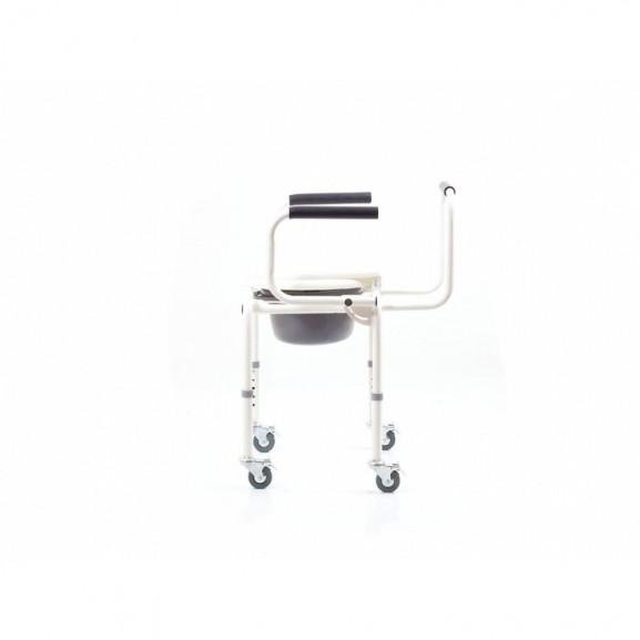Санитарный стул со складными подлокотниками и колесами Ortonica Tu 8 - фото №1