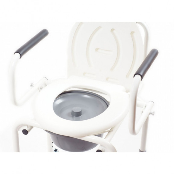 Санитарный стул со складными подлокотниками и колесами Ortonica Tu 8 - фото №11