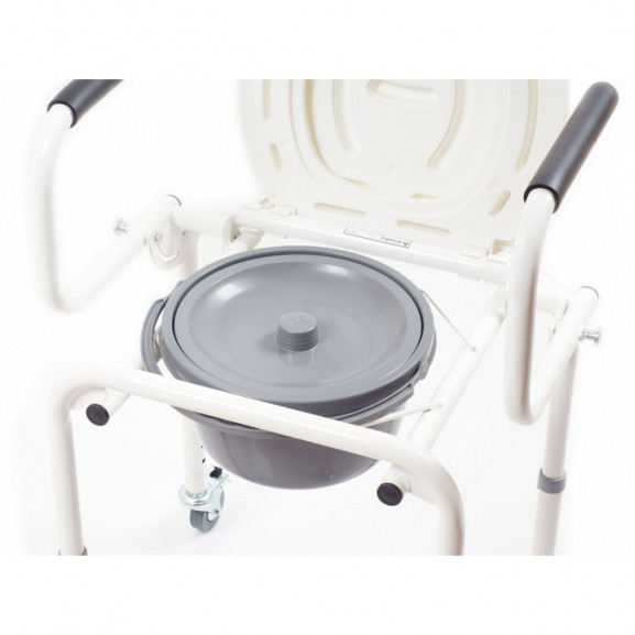 Санитарный стул со складными подлокотниками и колесами Ortonica Tu 8 - фото №8