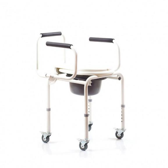 Санитарный стул со складными подлокотниками и колесами Ortonica Tu 8