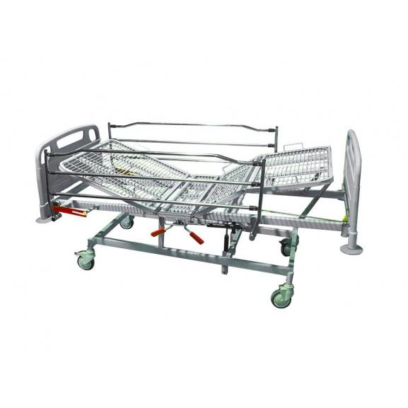 Кровать медицинская функциональная 4-х секционная механическая Vermeiren Luna Metal