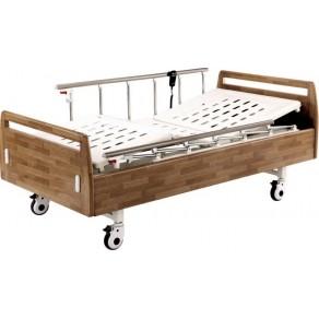 Кровать электрическая с деревянными спинками Медицинофф Fa-3