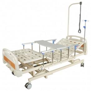 Кровать механическая (3 функции) с ростоматом и полкой Мед-Мос E-31 Мм-3014н-00