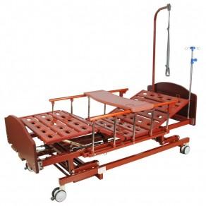 Кровать механическая (3 функции) с ростоматом и полкой Мед-Мос E-31 Мм-3024н-00