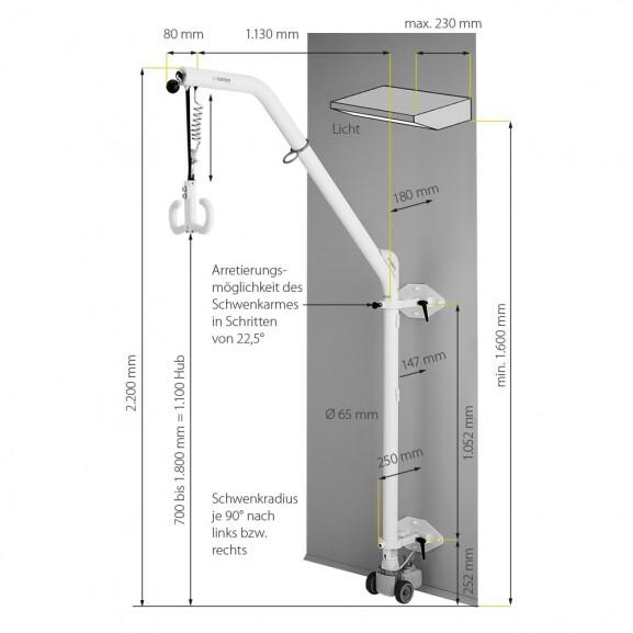 Подъемник для инвалидов стационарный электрический Aacurat Куратор - фото №6