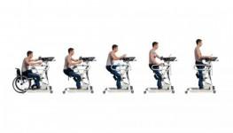 Подъем сидящего в кресле осуществляется при помощи ремня