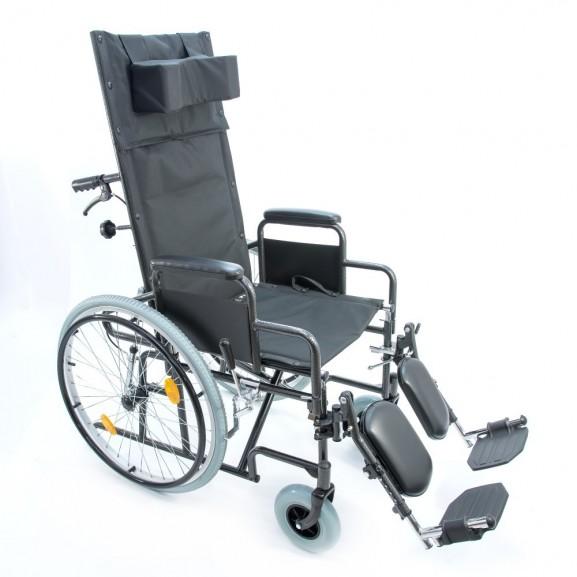 Кресло-коляска инвалидная механическая с высокой спинкой Мега-Оптим 514 А - фото №2