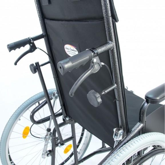 Кресло-коляска инвалидная механическая с высокой спинкой Мега-Оптим 514 А - фото №3
