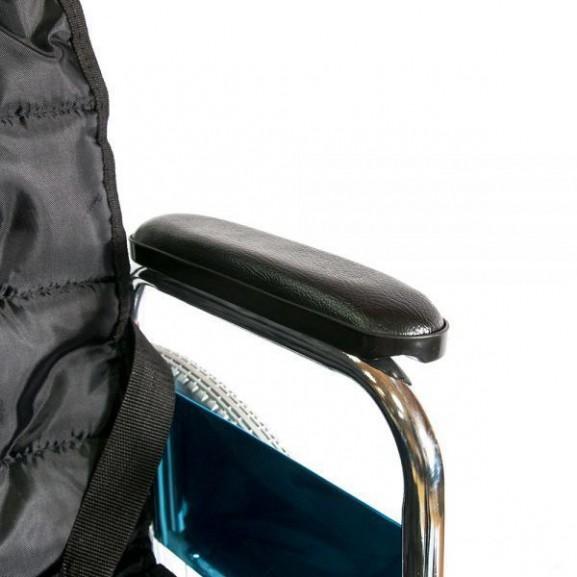 Инвалидное кресло-коляска стальная Мега-Оптим Fs 902c - фото №9