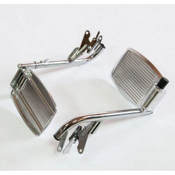 Инвалидное кресло-коляска стальная Мега-Оптим Fs 902c - фото №14