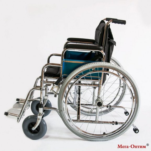 Инвалидное кресло-коляска стальная Мега-Оптим Fs 902c - фото №2