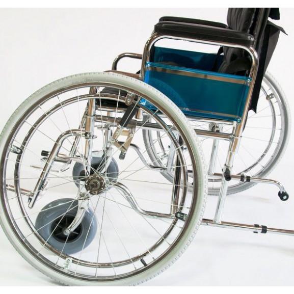 Инвалидное кресло-коляска стальная Мега-Оптим Fs 902c - фото №6