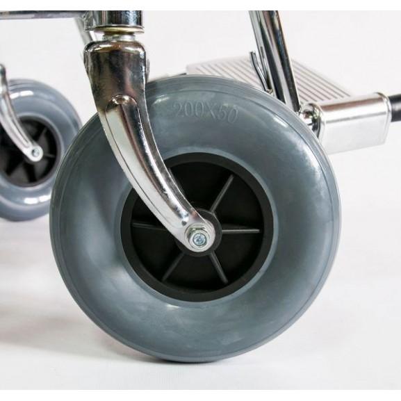 Инвалидное кресло-коляска стальная Мега-Оптим Fs 902c - фото №10