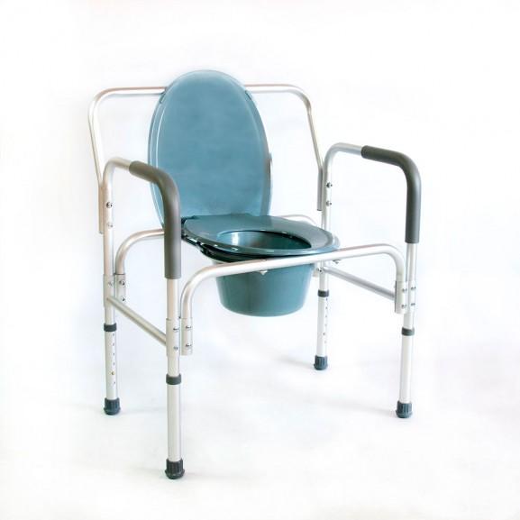 Кресло-стул с санитарным оснащением повышенной грузоподъемности Мега-Оптим Hmp-7007l