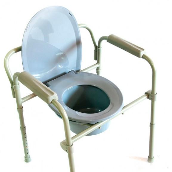 Кресло-стул с санитарным оснащением Мега-Оптим Hmp-7210a - фото №1