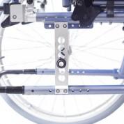 Регулировка заднего колеса по вертикали и горизонтали