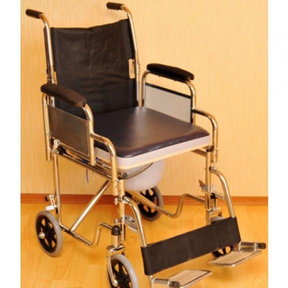 Инвалидное кресло-коляска с санитарным устройством Мега-Оптим Lk 6022-46 Dfw