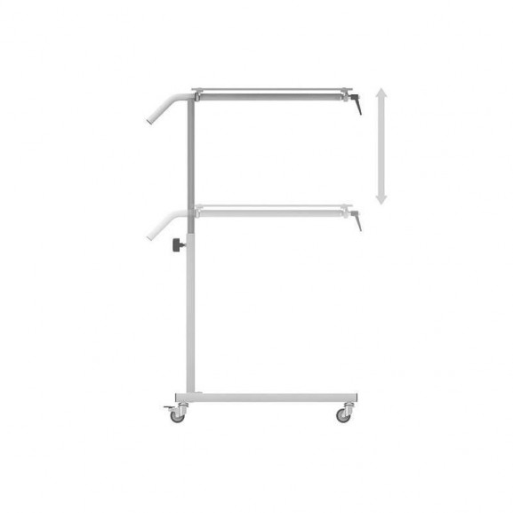 Стол прикроватный с 1-ой столешницей из HPL-пластика Конмет Холдинг Сн-24.01 - фото №1