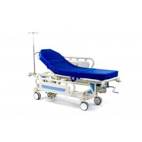 Тележка-каталка механическая для транспортировки пациентов Медицинофф E-3(p)