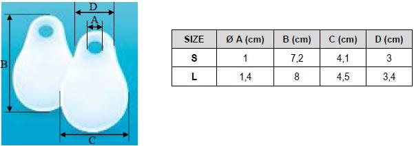 Защитная подушечка Orliman Sofy-plant® gel GL-102