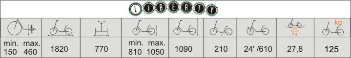Технические характеристики велосипеда для взрослых и детей с ДЦП Vermeiren Liberty