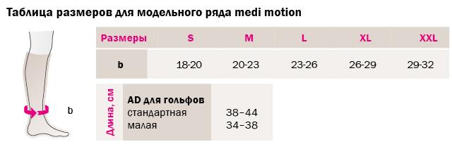 Гольфы medi motion 354