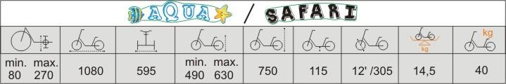 Технические характеристики велосипеда для детей с ДЦП Vermeiren Safari