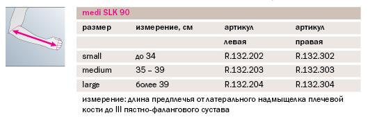 Шина отводящяя medi Slk® 90 R132-2