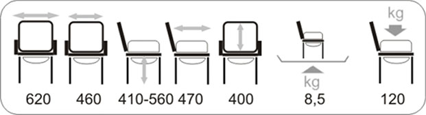Технические характеристики стула-туалета для инвалидов Vermeiren 9063 с санитарным оснащением