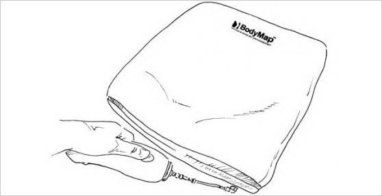 Включить насос нажатием кнопки и откачивать воздух до приобретения подушкой нужной твердости